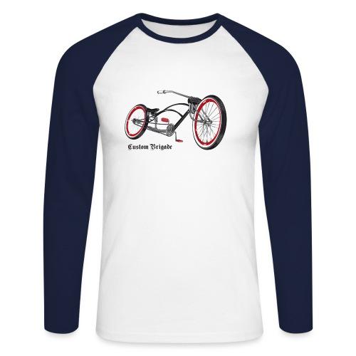 velo02 transparent - T-shirt baseball manches longues Homme