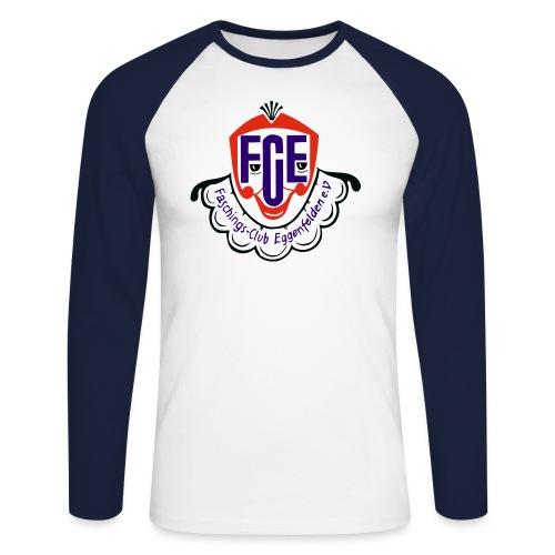 FCE Logo farbig hochauflösend ohne Hintergrund - Männer Baseballshirt langarm