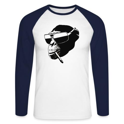 monkey1 png - Mannen baseballshirt lange mouw
