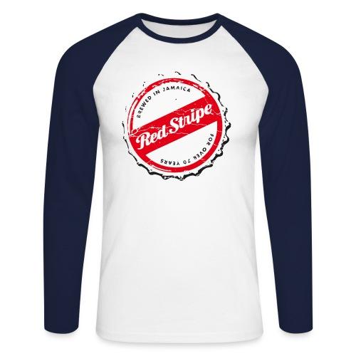 red stripe logo - Männer Baseballshirt langarm