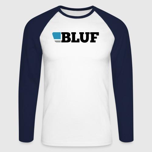 blufblacktext - Men's Long Sleeve Baseball T-Shirt