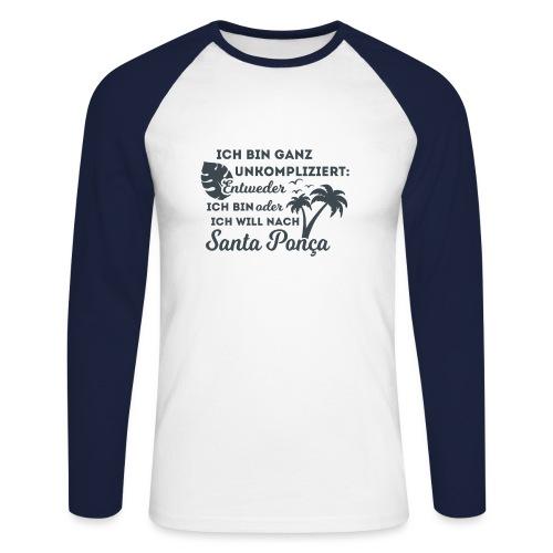 Santa Ponça auf Mallorca - TOP Urlaubsort - Malle - Männer Baseballshirt langarm