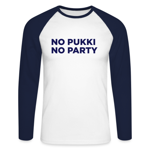 No Pukki, no party - Miesten pitkähihainen baseballpaita