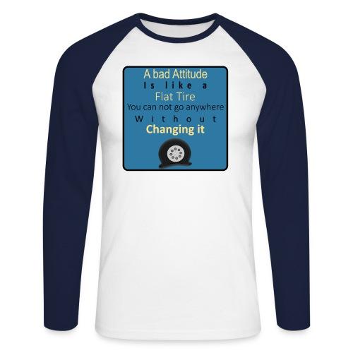 Flat-Tire - Langærmet herre-baseballshirt