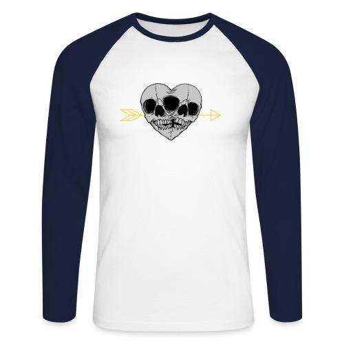 I LOVE MY TWIN - Koszulka męska bejsbolowa z długim rękawem