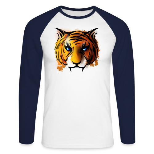 Tiger - Men's Long Sleeve Baseball T-Shirt