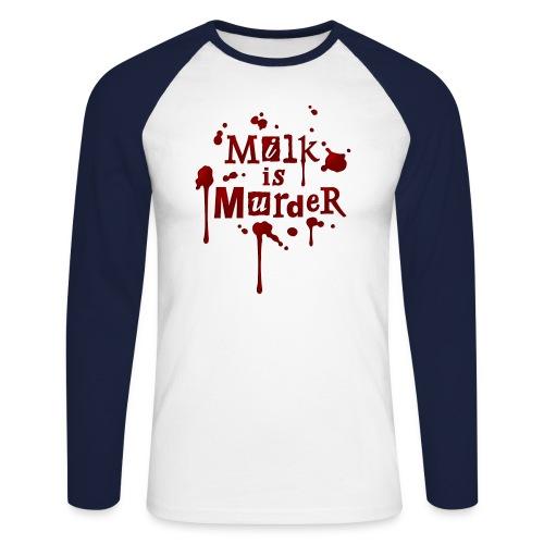 01_t_milkismurder - Männer Baseballshirt langarm