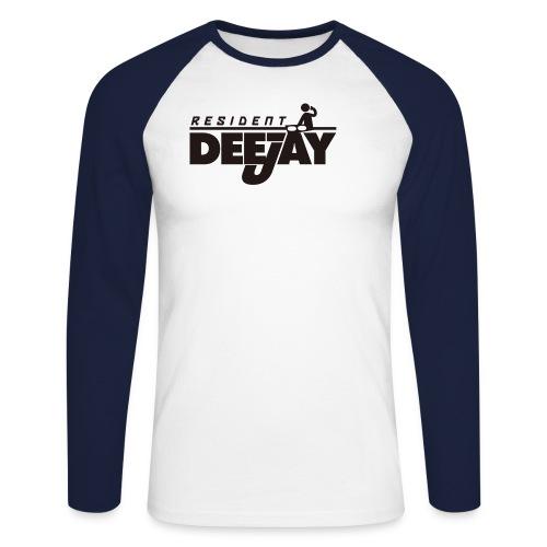 tshirt resident deejay - Männer Baseballshirt langarm