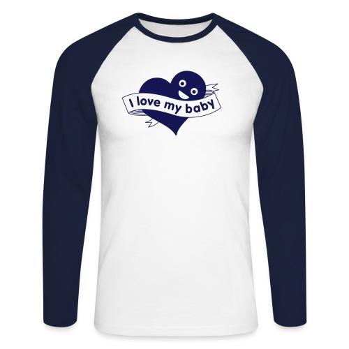 babylove - Mannen baseballshirt lange mouw
