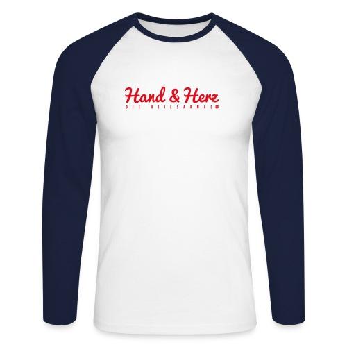 Motiv Hand Herz - Männer Baseballshirt langarm