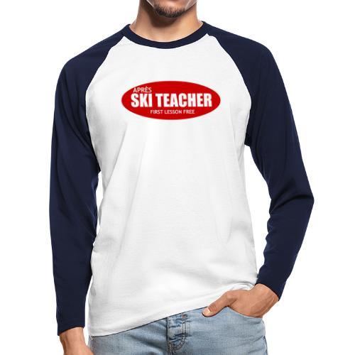 asteacher - Mannen baseballshirt lange mouw