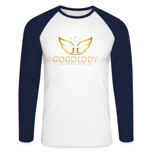 GoGo Eddy Gold Merchandise - Men's Long Sleeve Baseball T-Shirt