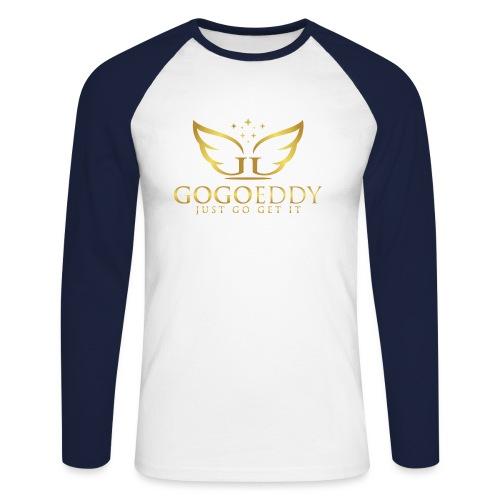 GoGo Eddy Gold Merchandise - Men's Long Sleeve Baseball T-Shirt