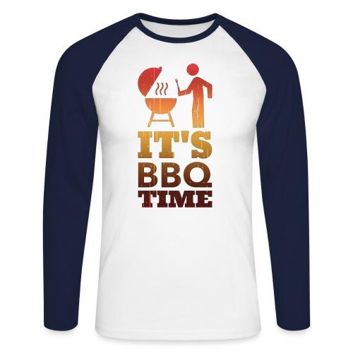 It's BBQ Time - Mannen baseballshirt lange mouw