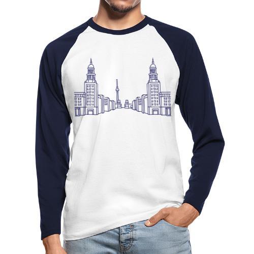 Frankfurter Tor Berlín - Koszulka męska bejsbolowa z długim rękawem
