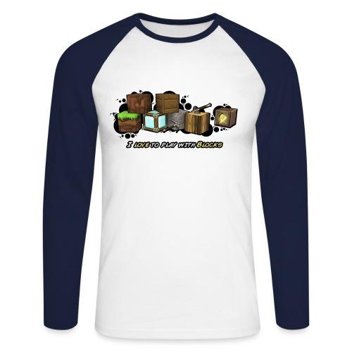 I love to play with Blocks - Men's Long Sleeve Baseball T-Shirt