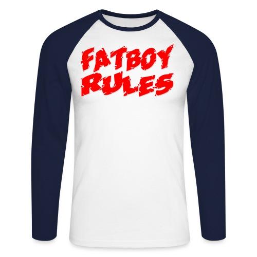 Fatboy Rules - Mannen baseballshirt lange mouw
