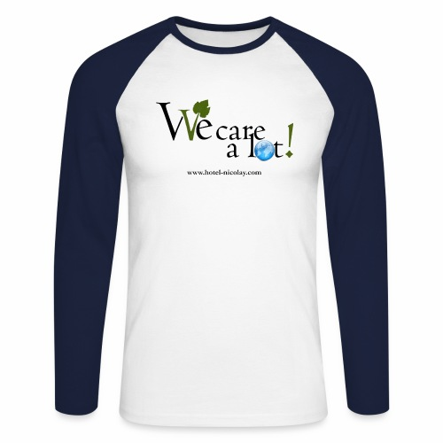 We care a lot jpg - Männer Baseballshirt langarm