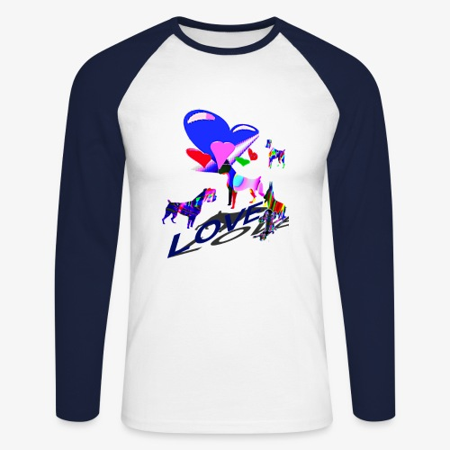 look at these dogs love - T-shirt baseball manches longues Homme