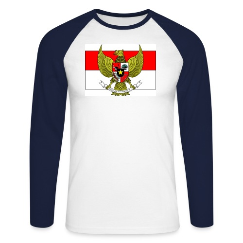 garuda pancasila flag - Men's Long Sleeve Baseball T-Shirt