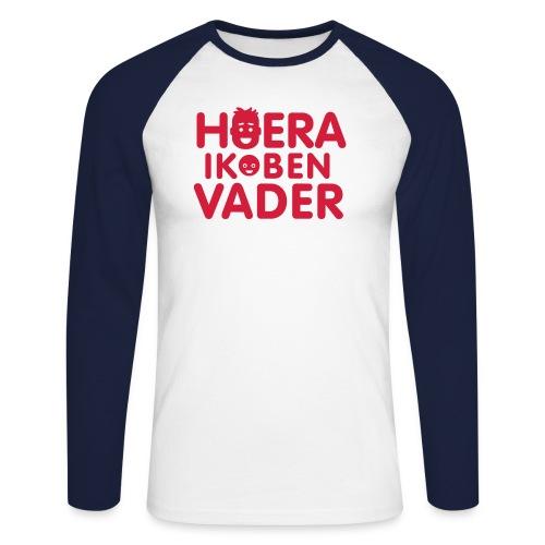 hoeraikbenvader - Mannen baseballshirt lange mouw