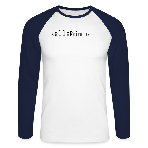 kellerlogotext23cm - Männer Baseballshirt langarm