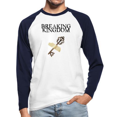BK-Weißes-Design - Männer Baseballshirt langarm