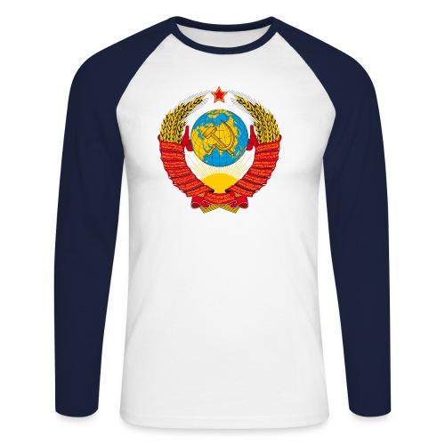 UdSSR Wappen / Герб СССР - Männer Baseballshirt langarm
