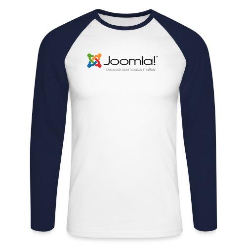 Joomla! Basiclogo Longshirt Blue - Männer Baseballshirt langarm