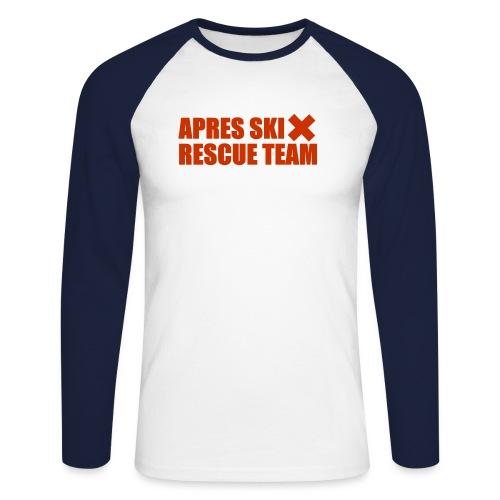 apres-ski rescue team - Mannen baseballshirt lange mouw