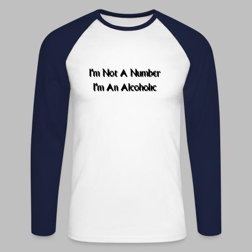 Alcoholic - Men's Long Sleeve Baseball T-Shirt