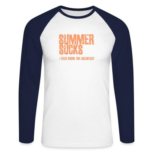 SUMMER SUCKS - Mannen baseballshirt lange mouw