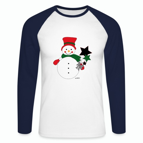 Snowtime-Red - Männer Baseballshirt langarm