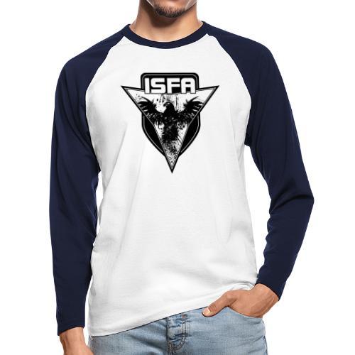 isfa logo 1c schwarz - Männer Baseballshirt langarm
