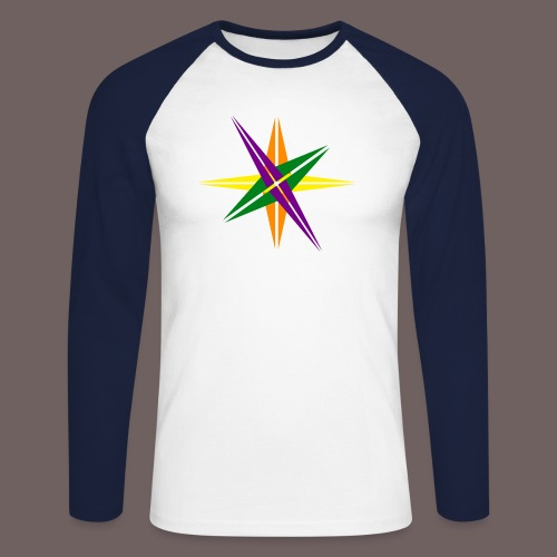 GBIGBO zjebeezjeboo - Love - Couleur d'étoile brillante - T-shirt baseball manches longues Homme