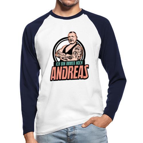 Immer-Noch-Andreas-Logo BUNT - Raglán manga larga hombre