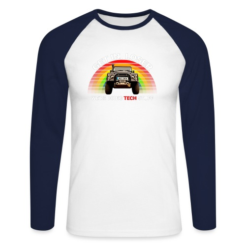 We're Doing Tech Stuff - Men's Long Sleeve Baseball T-Shirt