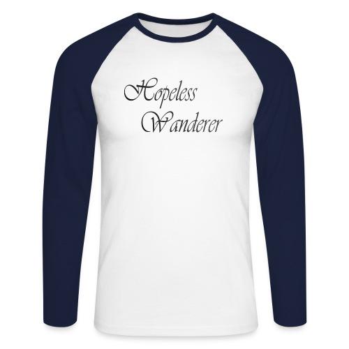 Hopeless Wanderer - Wander text - Men's Long Sleeve Baseball T-Shirt
