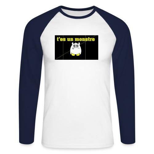 monster - T-shirt baseball manches longues Homme
