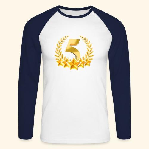 Fünf-Stern 5 sterne - Männer Baseballshirt langarm