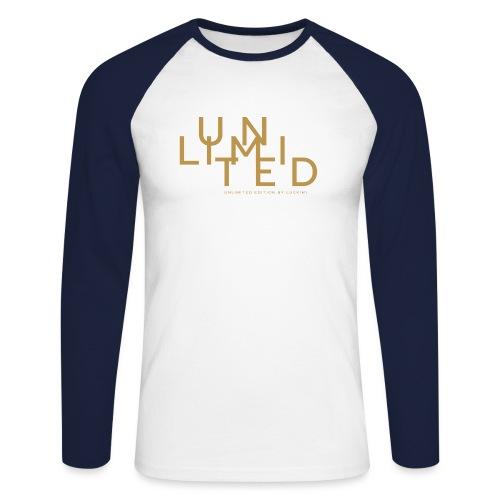 Unlimited gold - Men's Long Sleeve Baseball T-Shirt