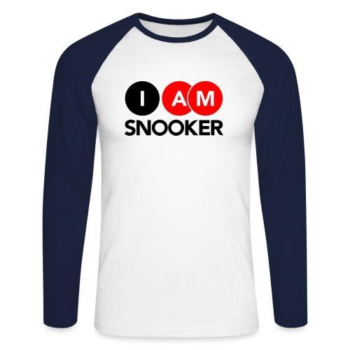 I AM SNOOKER - Men's Long Sleeve Baseball T-Shirt