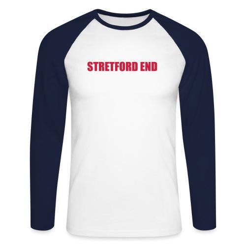 Stretford End - Men's Long Sleeve Baseball T-Shirt