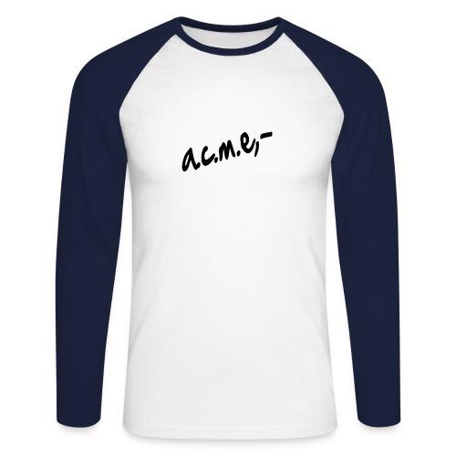 acmeproductionswhite - Männer Baseballshirt langarm