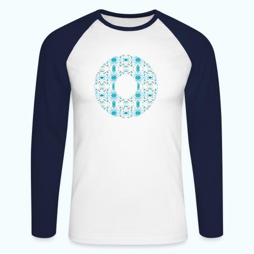 Hippie flowers donut - Men's Long Sleeve Baseball T-Shirt
