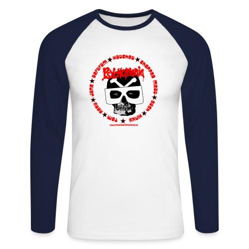 Psychomania skull graphic - Men's Long Sleeve Baseball T-Shirt