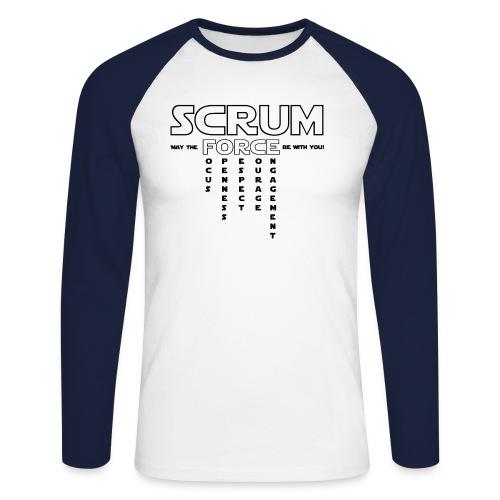 SCRUM FORCE - Männer Baseballshirt langarm