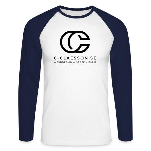C-Claesson Webbdesign - Långärmad basebolltröja herr
