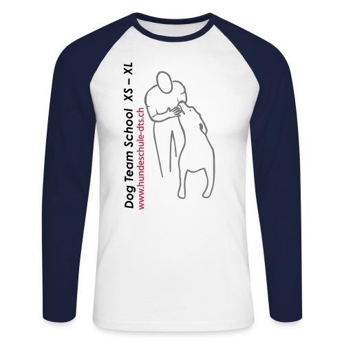jpeg schwarz grau rot kopie4000 - Männer Baseballshirt langarm