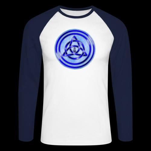 Awen Triqueta Circle - Men's Long Sleeve Baseball T-Shirt